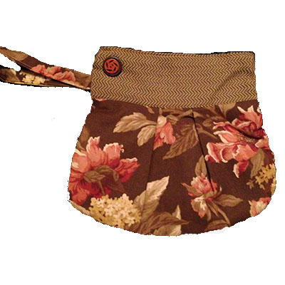 Wristlet Brown Flowers