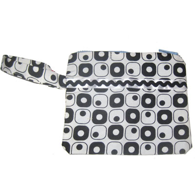Wristlet Black and White